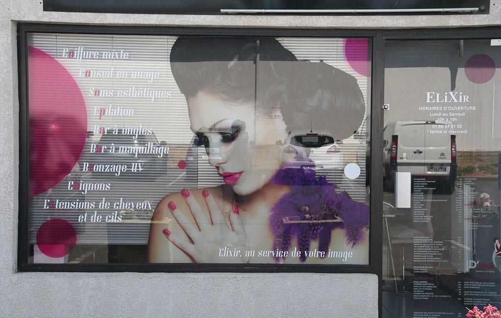 Décoration de vitrine pour salon Elixir