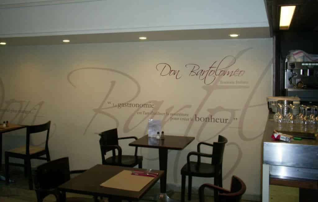 Décoration intérieur pour le restaurant Don Bartolomeo