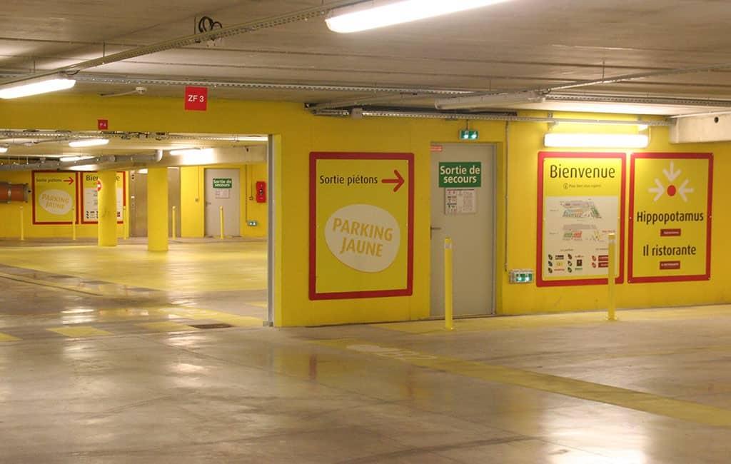 La signalétique de parking